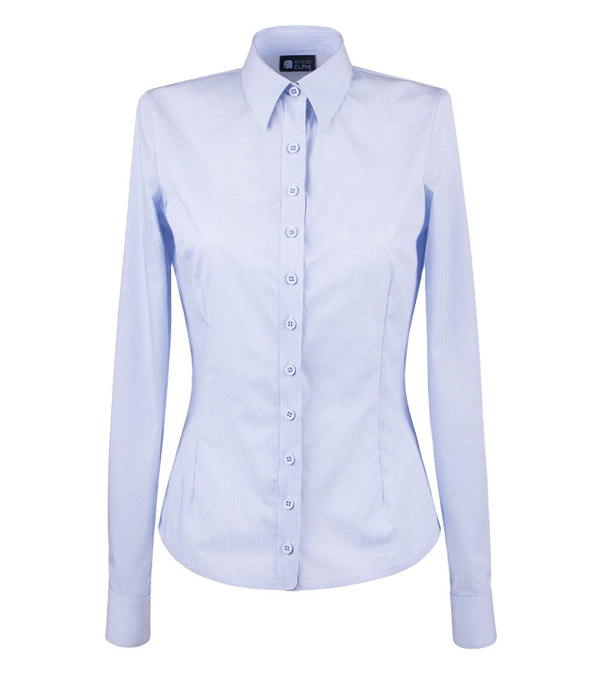 1cfdd61511 Koszula Niebieskie paski MAYA LONG - Kolekcja niebieska